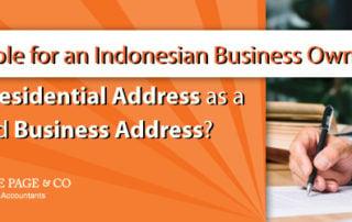Residential Address as Registered Business Address