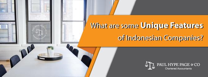 Unique Features of Indonesian Companies
